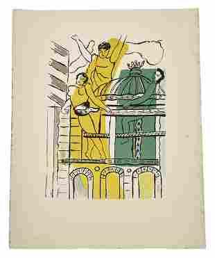 """Fernand Leger """"L' Opéra, 1959"""" Color Lithograph"""
