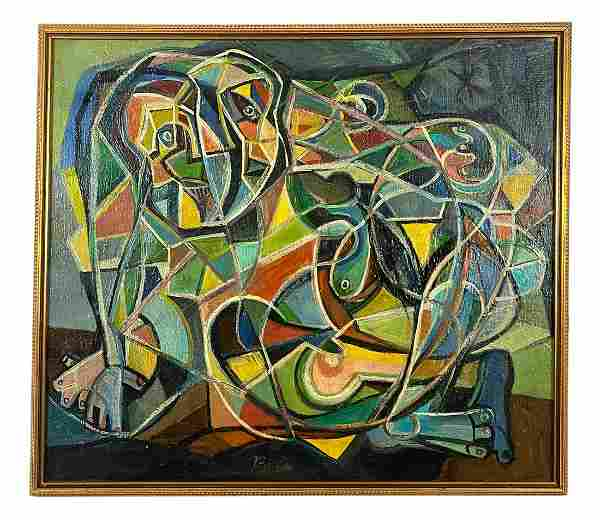Peter Busa Untitled Abstract Oil Painting