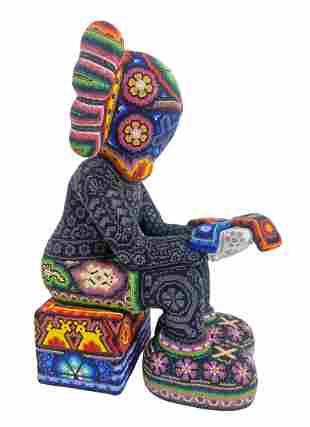 """Rick Wolfryd """"X-Man"""" Resin KAWS Inspired Sculpture"""