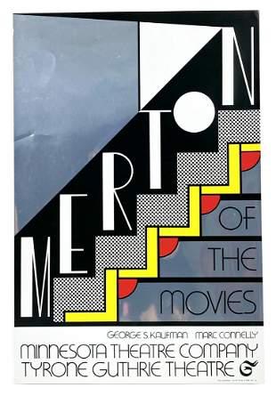 """Roy Lichtenstein """"Merton of The Movies"""" Serigraph"""