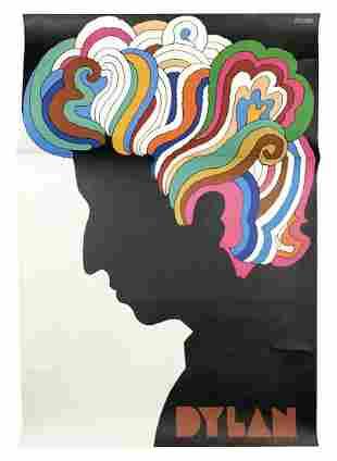 "Milton Glaser ""Dylan, 1966"" Original Art Poster"