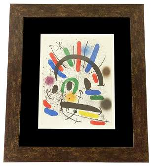 Joan Miro Lithograph In Colours