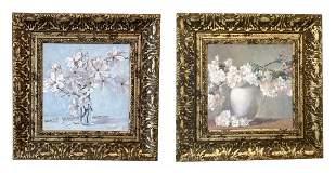 Pair of Valeri Chuikov Still Life Oil Paintings