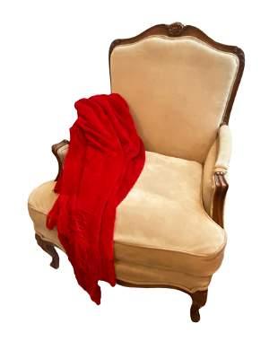 J. Robert Scott Arm Chair w/ Red Throw
