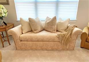 J. Robert Scott Designer Couch w/ Throw & Pillows