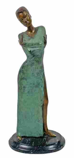 """Dominic Hay """"Evening"""" Bronze Sculpture"""