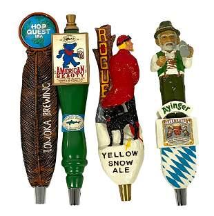 Four (4) Vintage Figural Beer Taps