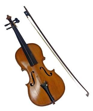 18th C. Stradivarius Antique Italian Violin & Bow