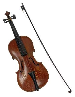 Antique Klotz Violin German Violin & Bow