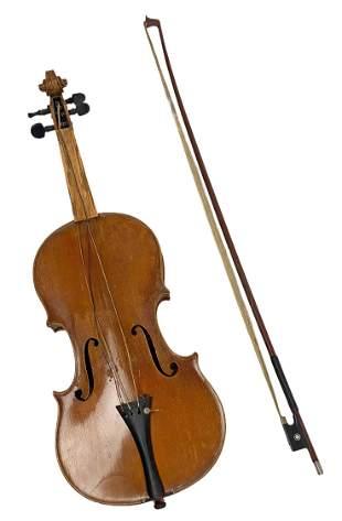 18th C. Antonius Stradivarius Antique Violin & Bow