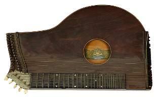 Antique J. Haslwanter German Mandolin Guitar Harp