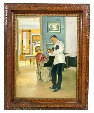 School of Konstantin Makovsky Officer Oil Painting