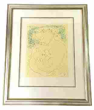 Pablo Picasso Maternity Color Lithograph on Arches