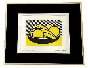 Roy Lichtenstein Bananas & Grapefruit Offset Litho