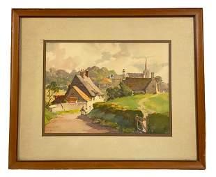 Frank Neville Landscape Watercolor Painting