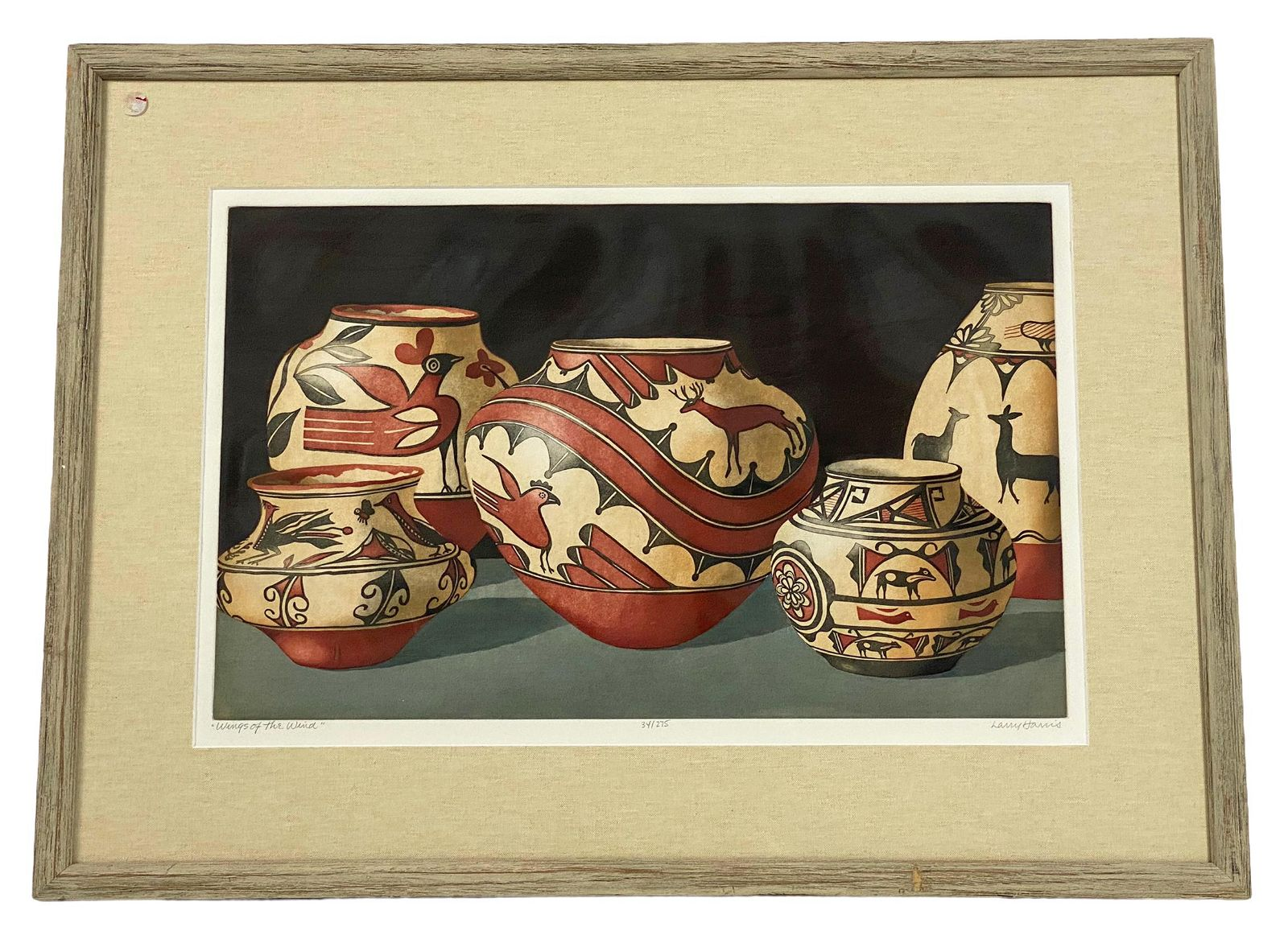 """Larry Harris """"Wings of The Wind"""" Color Etching"""