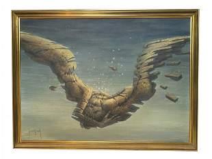 Francis de Saint-Genies Surrealist Oil Painting