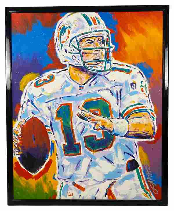 "John Stango ""Dan Marino"" Oil Painting on Canvas"
