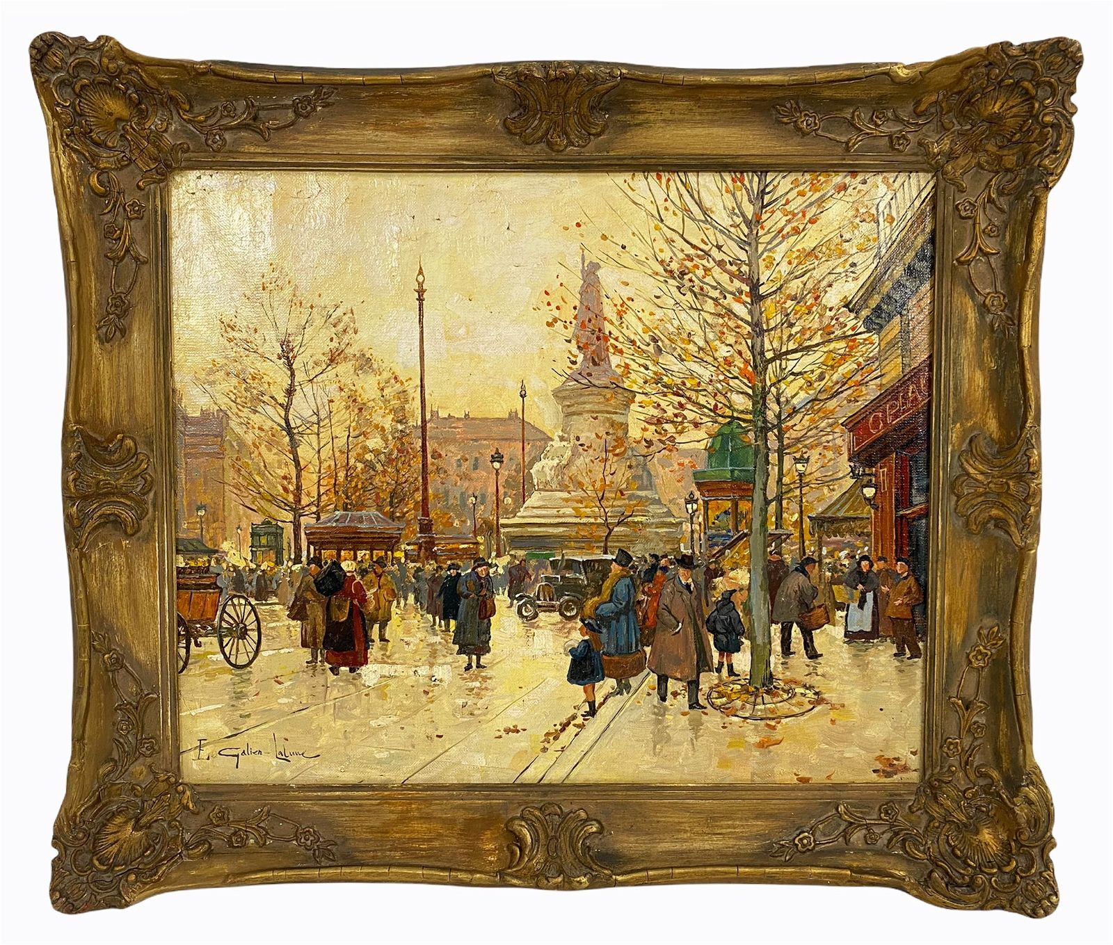 French Parisian Oil Painting after E.Galien-Laloue