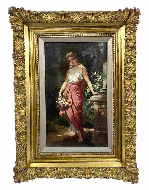 Hermann Michalowski 19th C. Antique Oil Painting