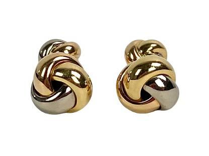 Cartier 18K Tri Gold Men's Cufflinks