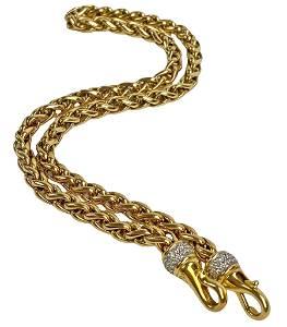 David Yurman 18K Gold & Diamond Necklace