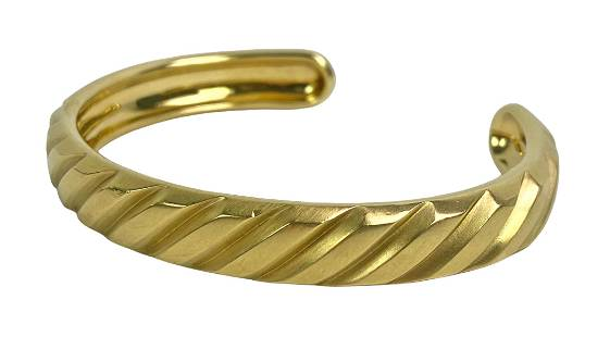 David Yurman 18K Yellow Gold 10mm Cuff Bracelet