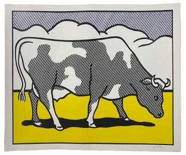 """Roy Lichtenstein """"Cow Going Abstract"""" #1/3 Poster"""
