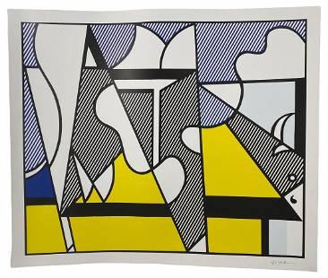 """Roy Lichtenstein """"Cow Going Abstract"""" #2/3 Poster"""