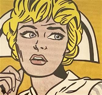 """Roy Lichtenstein """"Nurse, 1970"""" Offset Lithograph"""