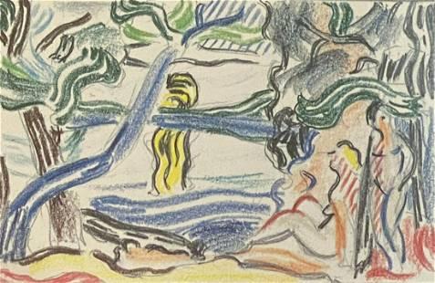 Roy Lichtenstein Landscape Sketch Lithograph