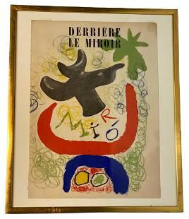 Joan Miro Derrier Le Miroir Lithograph In Colors