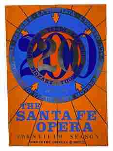 "Robert Indiana ""Santa Fe Opera"" Poster w/ Metalics"