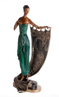 "Erte ""Emerald Night"" Bronze Sculpture"