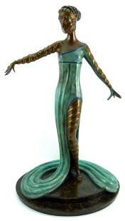 "Erte ""Le Marveilleuse"" Bronze Sculpture"