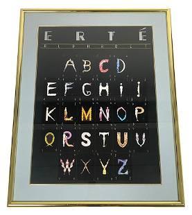 Erte Alphabet Lithograph In Colors