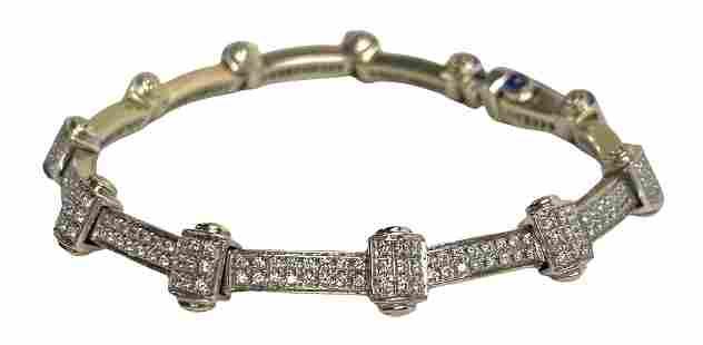 Charriol 18K White Gold & 2.75ctw Diamond Bracelet