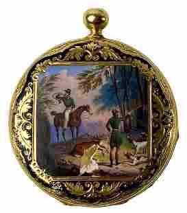 Antique Joseph Miller Hunter Case Pocket Watch