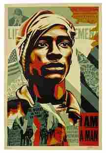 """Shepard Fairey """"I Am A Man"""" Colour Screen Print"""