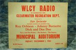 20: Roy Orbison. An early WLCY Radio incorporation with