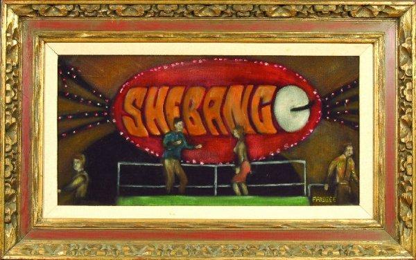 "2: 2*""Shebang"" painting by Frisbee"