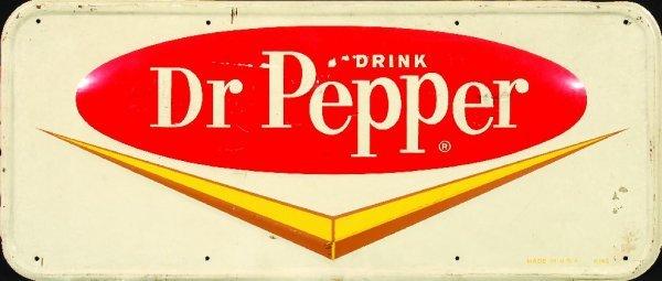 6: 6.*Dr. Pepper tin merchandising sign