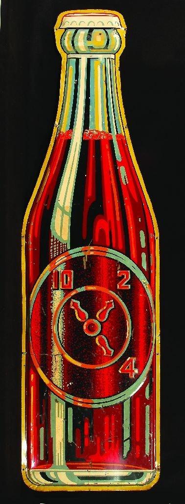 """9: 9.*Dr. Pepper large bottle-shaped """"10-2-4"""" metal mer"""
