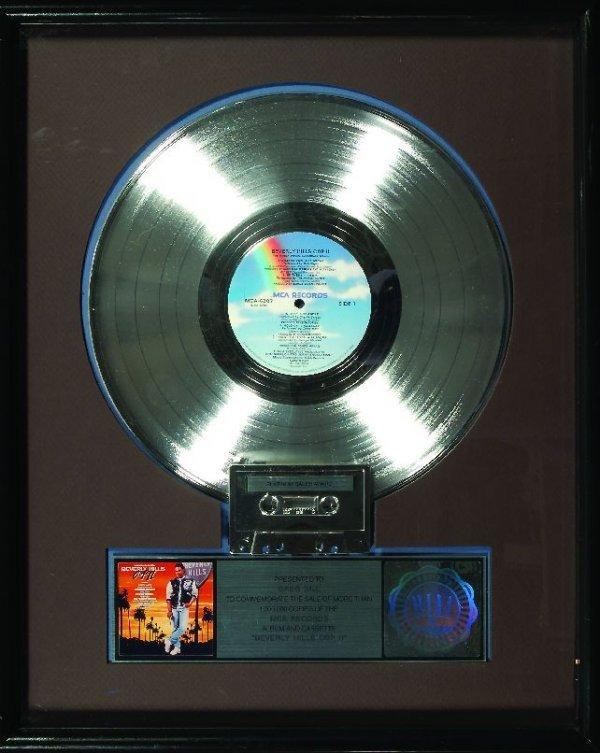 "16: 16.""Beverly Hills Cop II"" Platinum sales award"