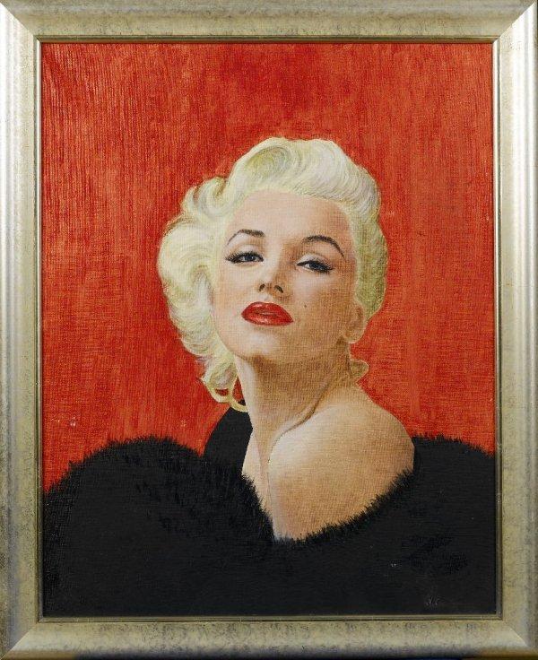 22A: 22A** MARILYN MONROE original oil painting, 1955