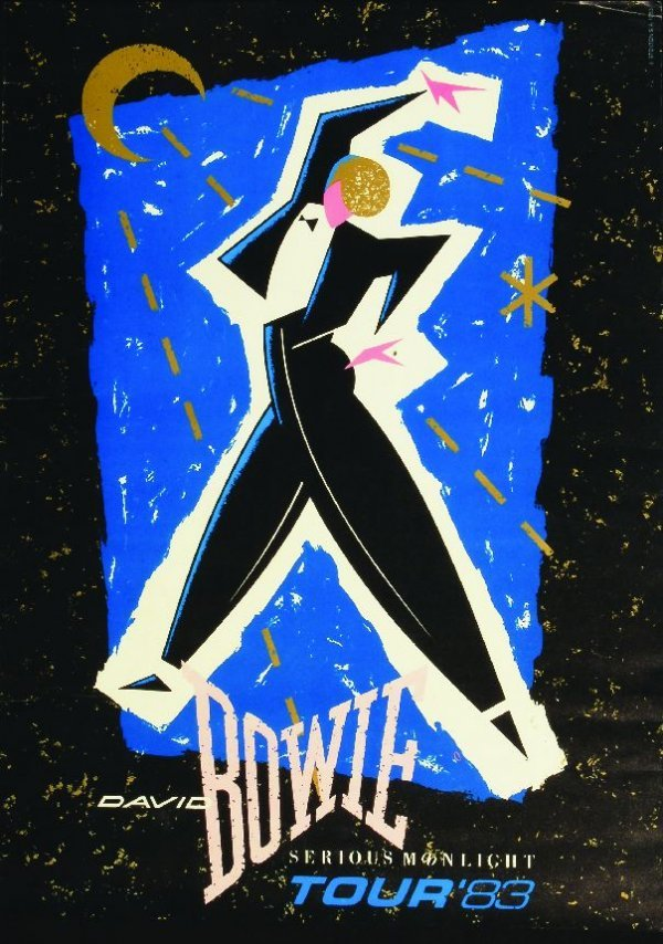 "288: David Bowie ""Serious Moonlight"" Tour poster, 1983"