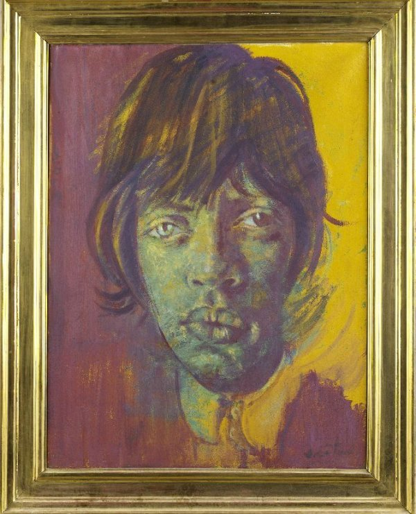 302A: **MICK JAGGER 1966 Cecil Beaton oil painting