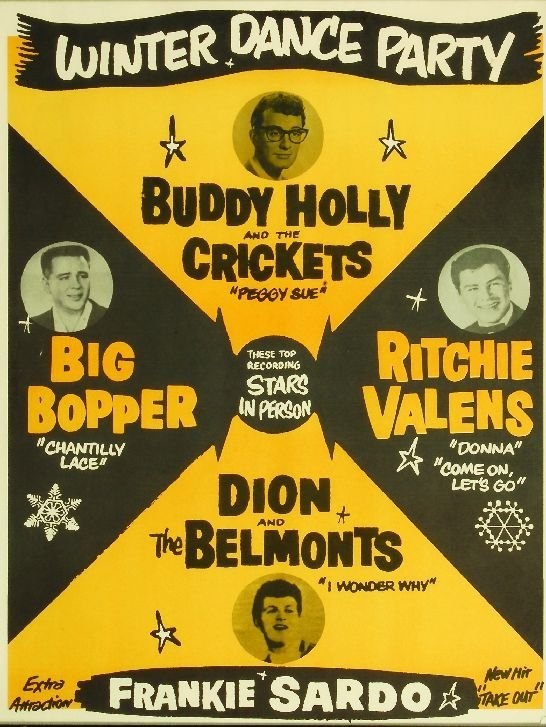 446: 446* Buddy Holly Winter Dance Party poster