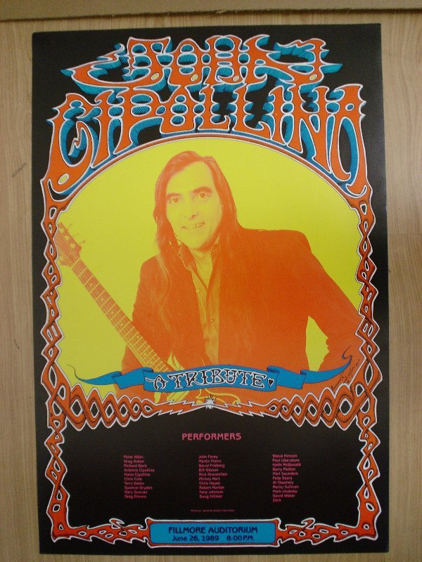 1007: A poster for a tribute to John Cipallina