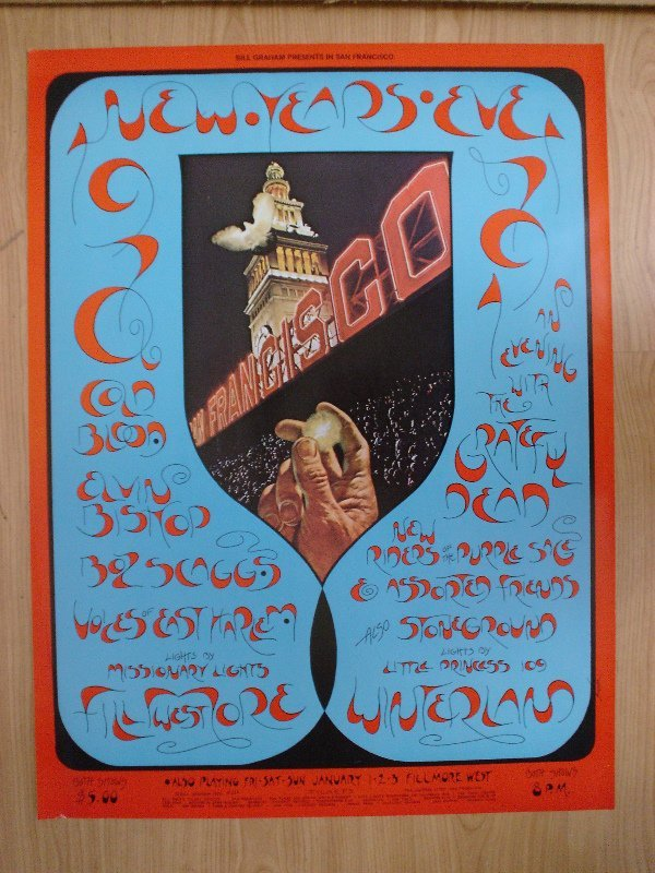 1009: BGP poster (263) featuring the Grateful Dead